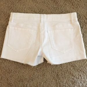 LOFT Shorts - LOFT Cut Off White Jean Shorts